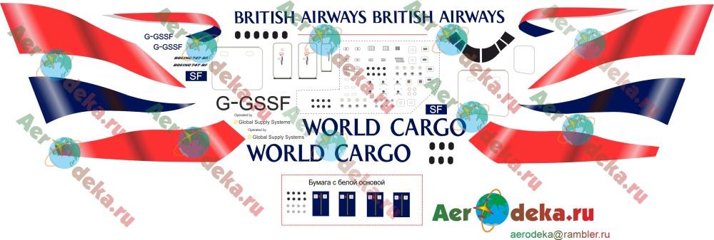 декаль на Boeing 747-800 British Airways Cargo