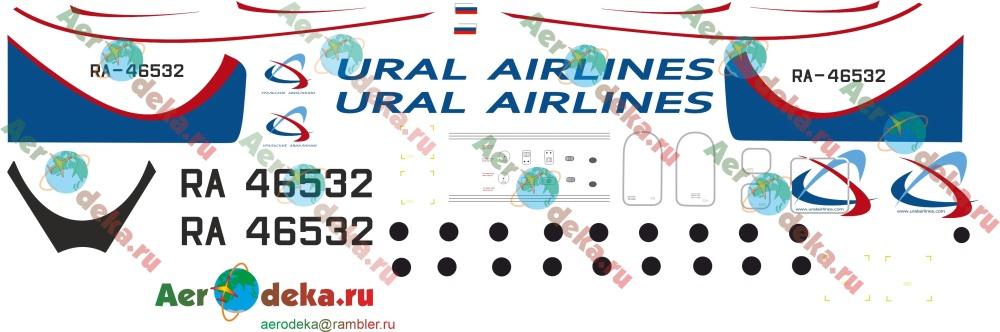 Декаль Ан-24 Уральские авиалинии